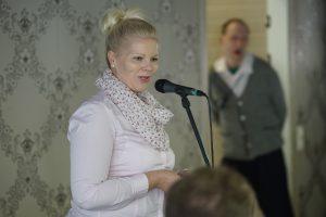 Porin kaupungin tervehdystä toi Diana Bergroth-Lampinen.